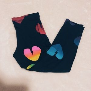 Flowers by Zoe Rainbow Heart Legging